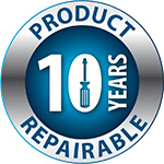 Product Repairable - 10 years